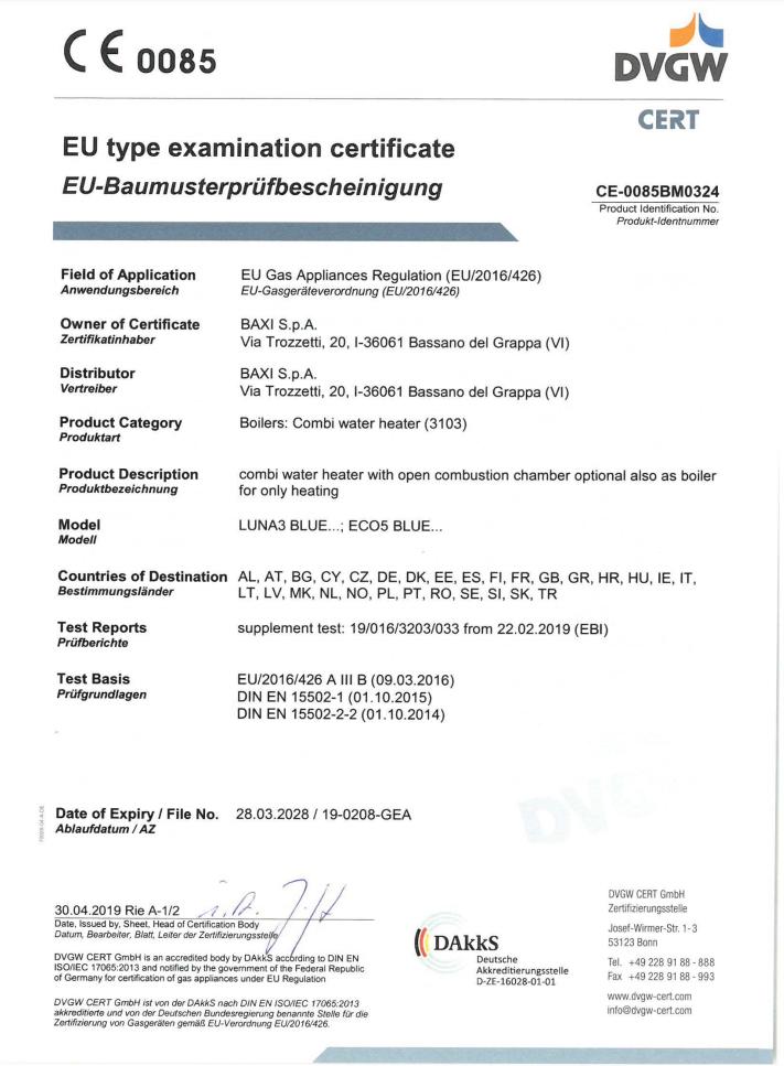 Eco5 CE tanusítvány 1oldala